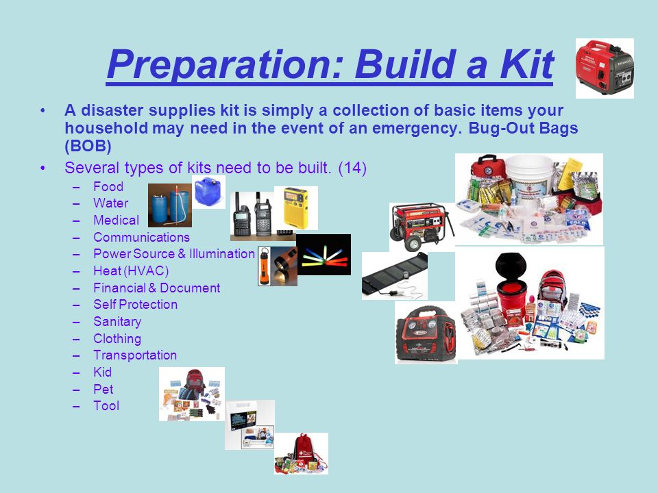 Preparation: Build a Kit