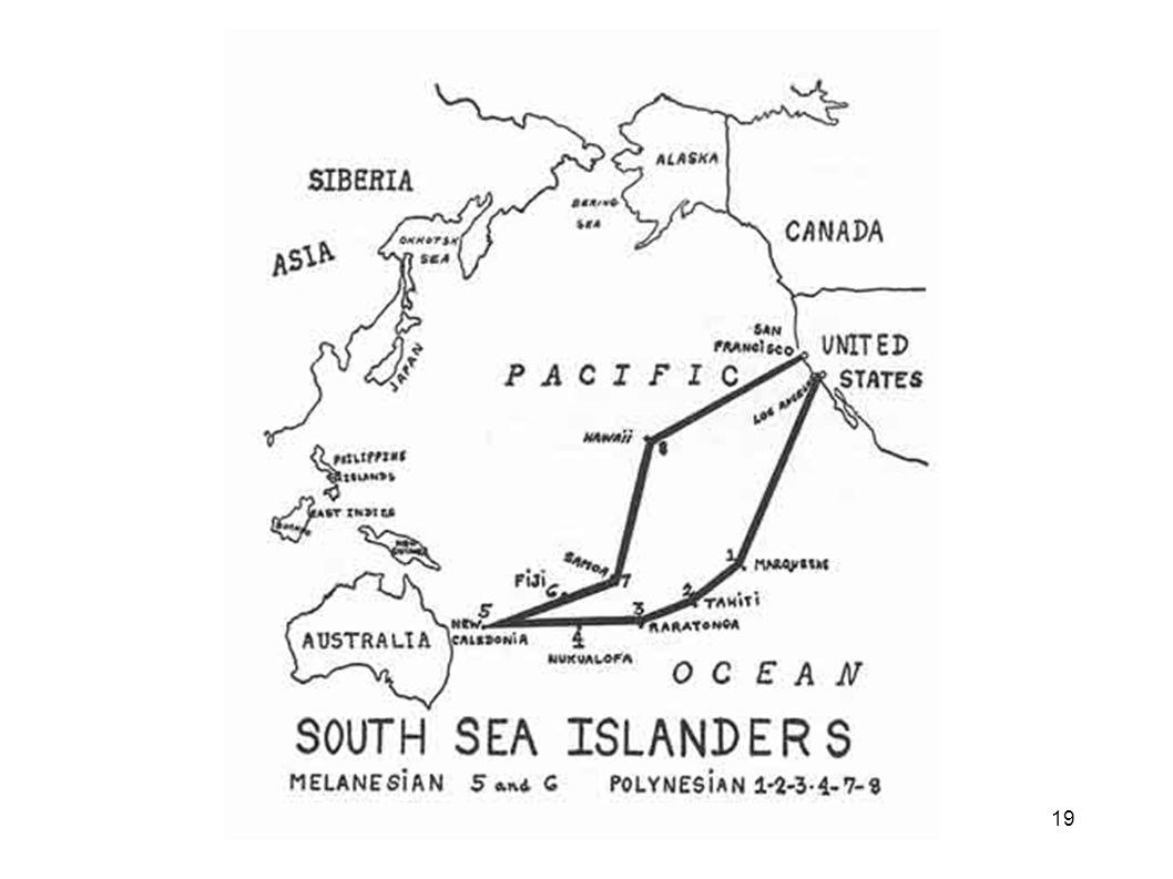 South Pacific Map Then Dr. Price went to the South Seas, studying the isolated Polynesians, Melanesians and the peoples of Australia.