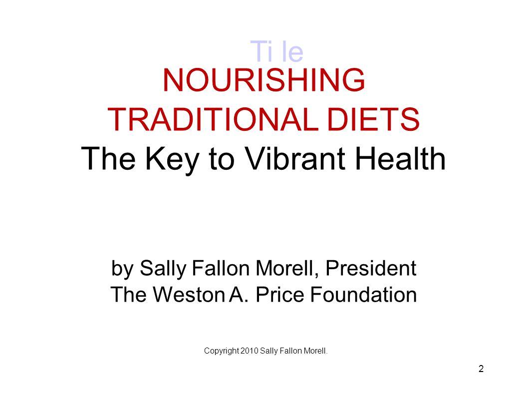 The Key to Vibrant Health