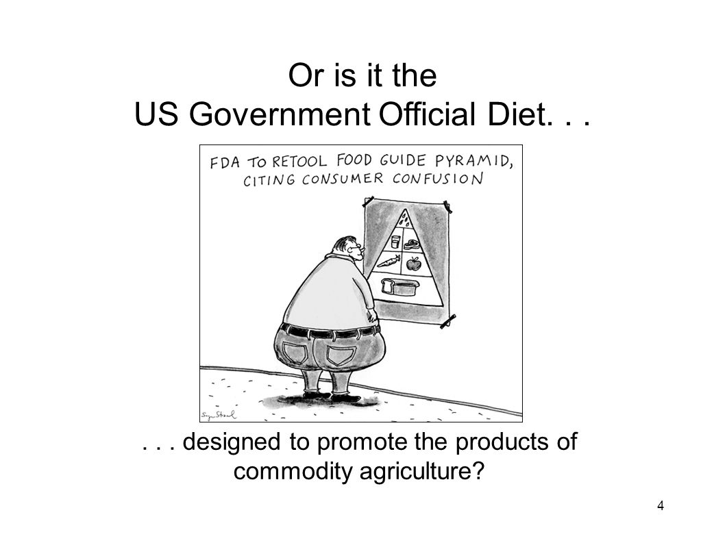 Or is it the US Government Official Diet. . .