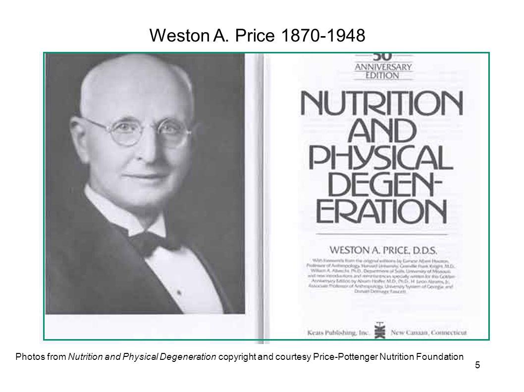 Weston A. Price 1870-1948