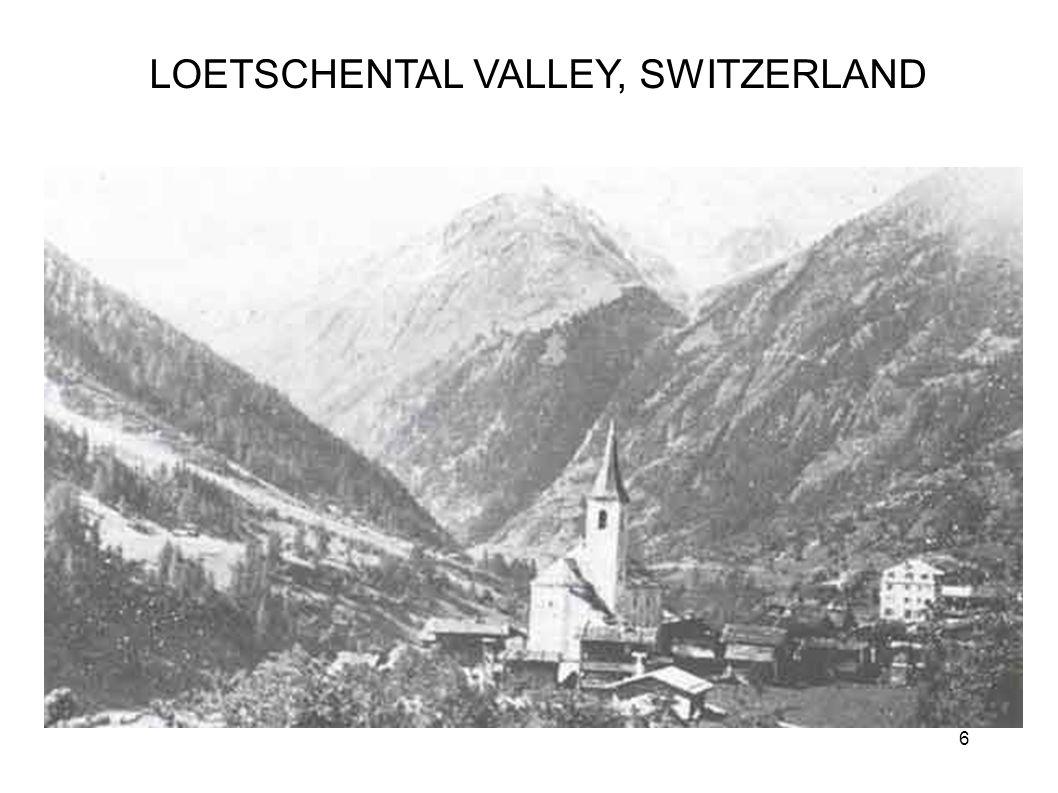 LOETSCHENTAL VALLEY, SWITZERLAND