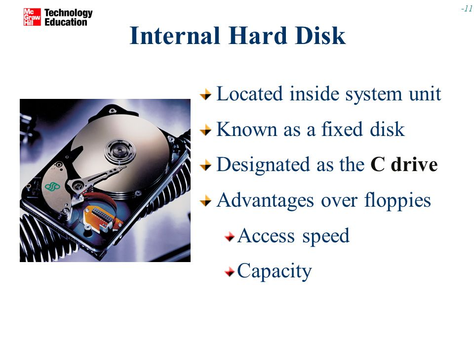 Secondary Storage Secondary Storage Devices Are Used To