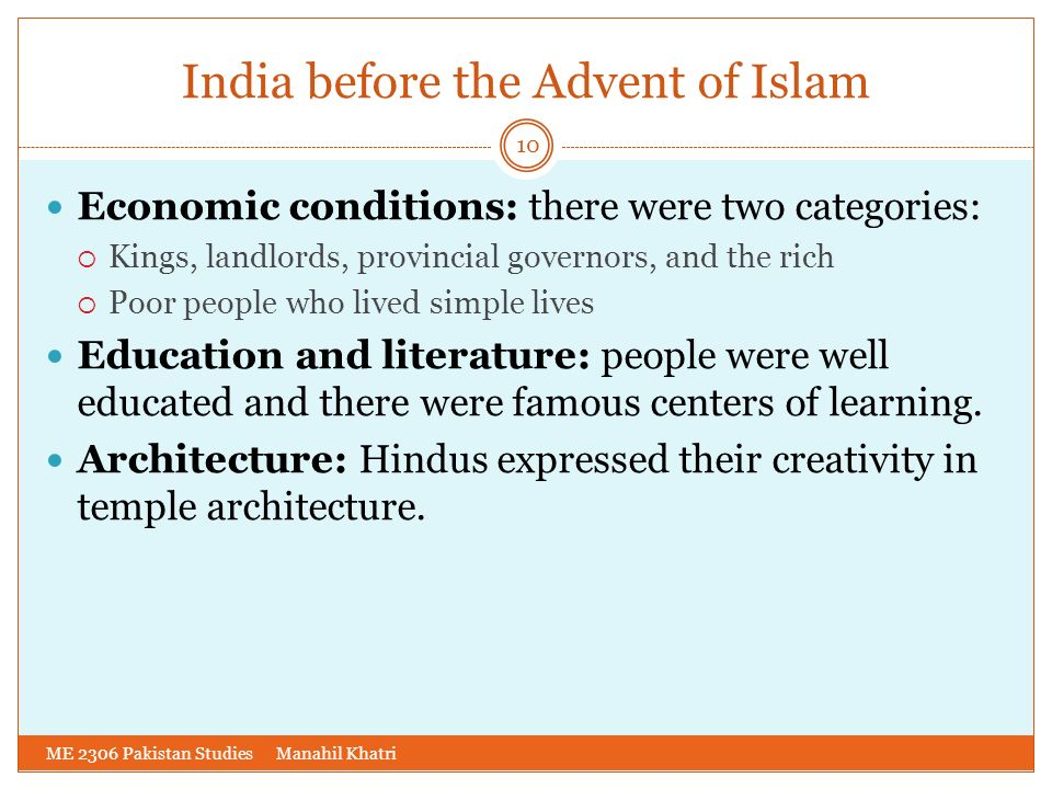 India before the Advent of Islam
