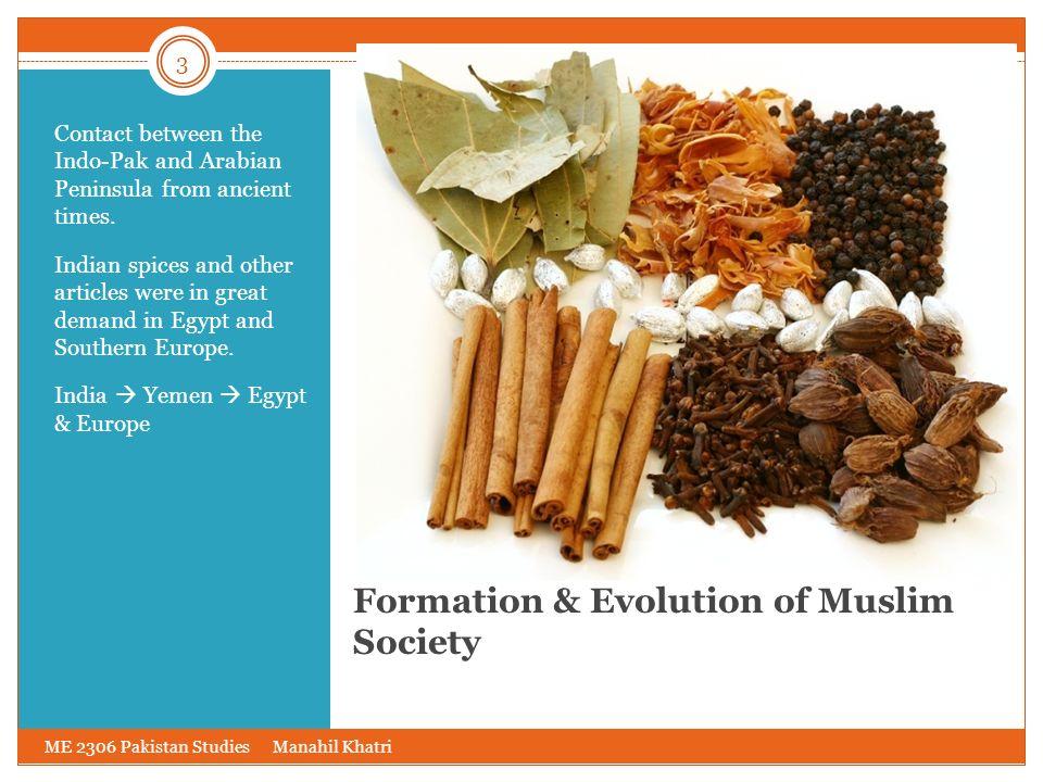 Formation & Evolution of Muslim Society