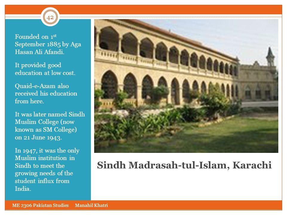 Sindh Madrasah-tul-Islam, Karachi