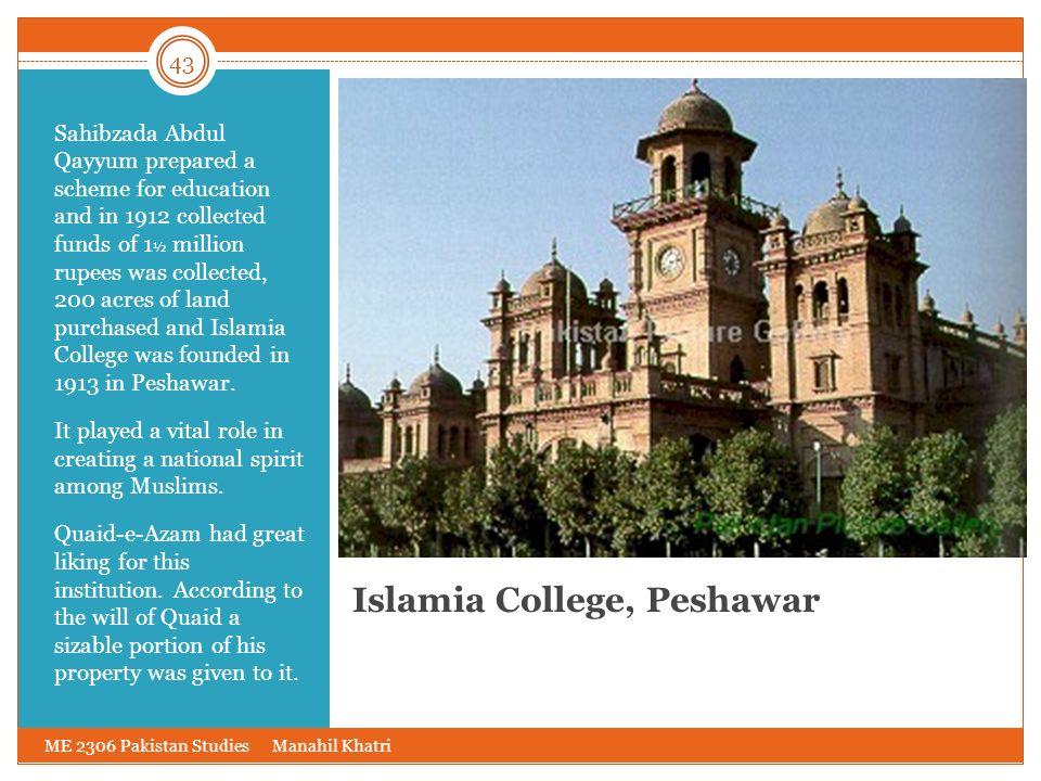 Islamia College, Peshawar