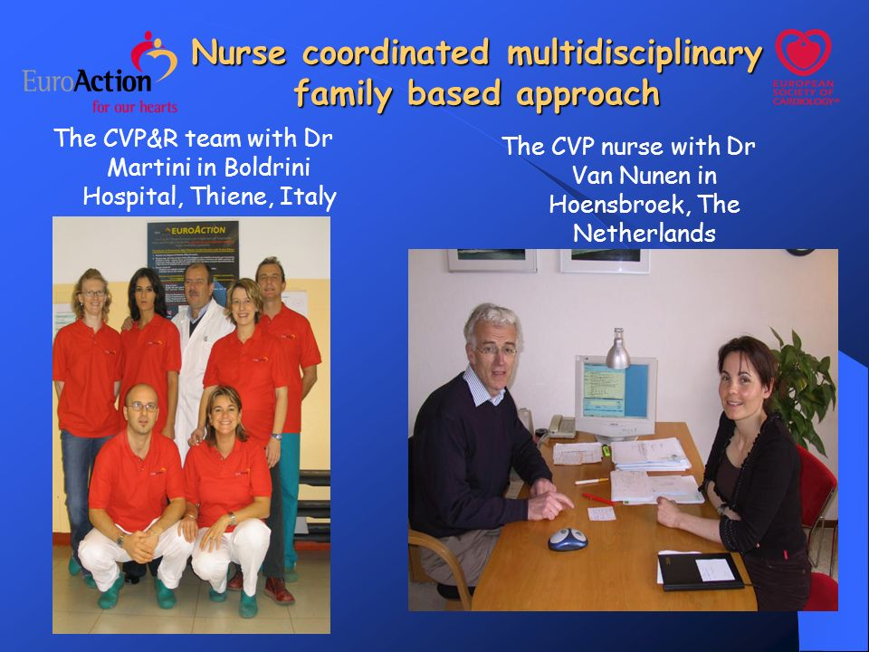 Nurse coordinated multidisciplinary family based approach