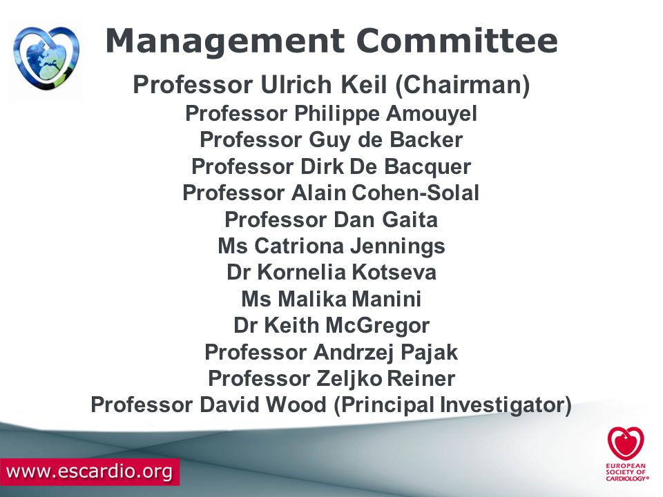 Management Committee Professor Ulrich Keil (Chairman)