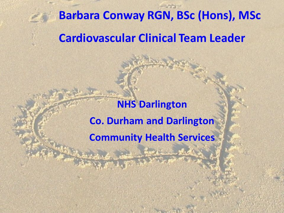 Barbara Conway RGN, BSc (Hons), MSc