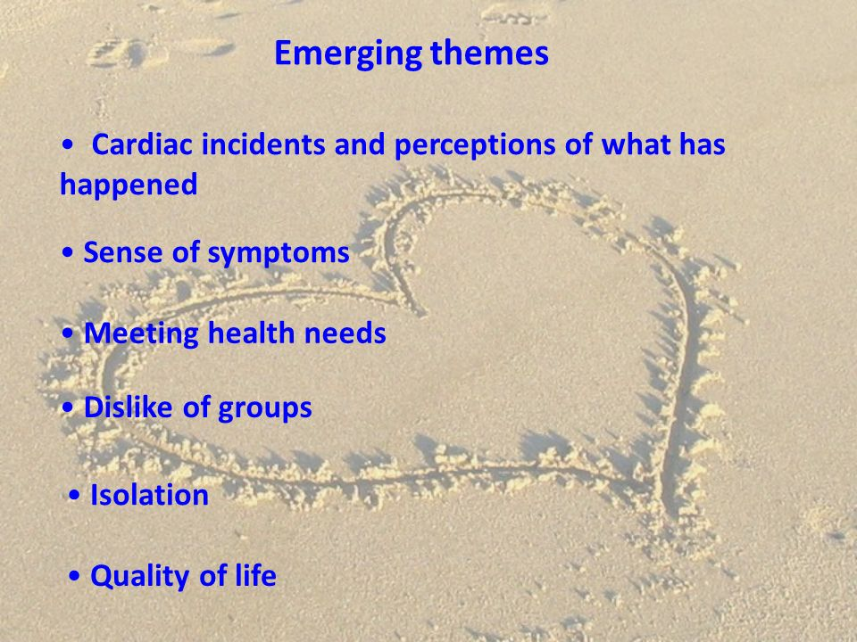 Emerging themes Cardiac incidents and perceptions of what has happened