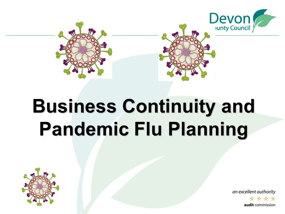 Business continuity and pandemic flu planning ppt download for Pandemic preparedness plan template