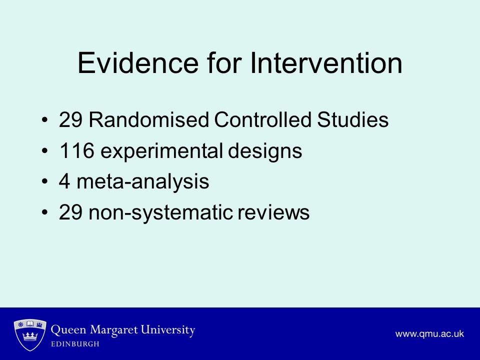 Evidence for Intervention