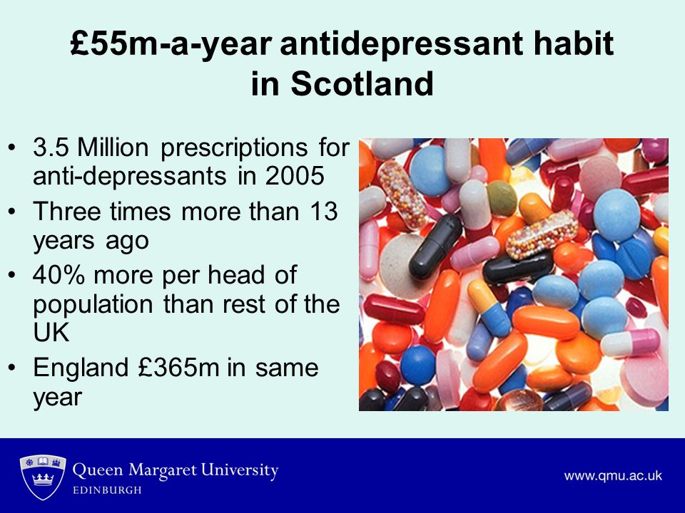 £55m-a-year antidepressant habit in Scotland