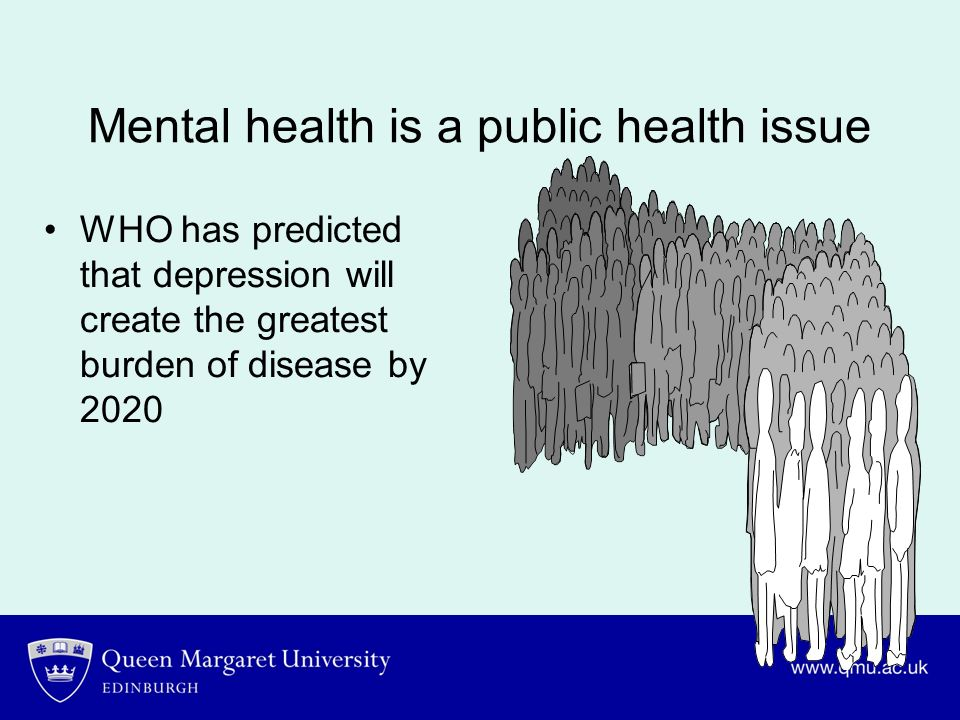 Mental health is a public health issue