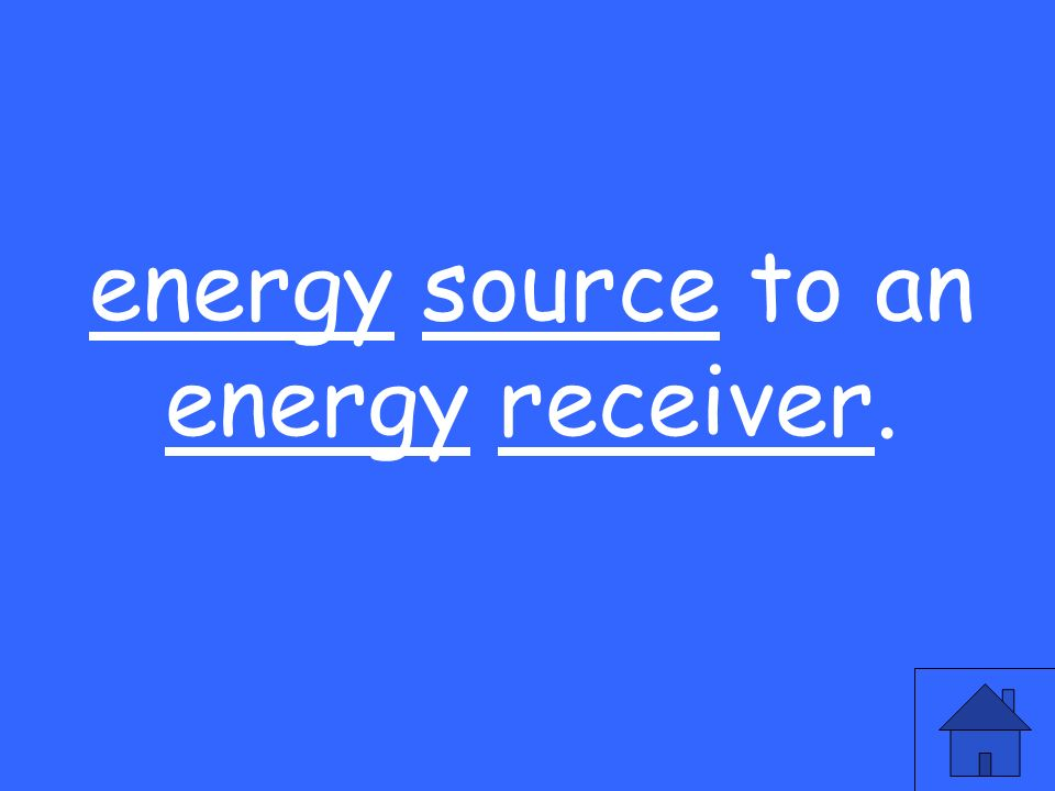 energy source to an energy receiver.