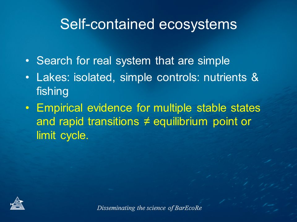 Self-contained ecosystems