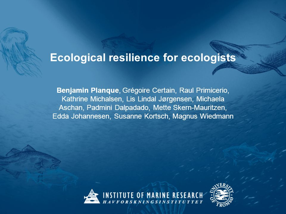 Ecological resilience for ecologists