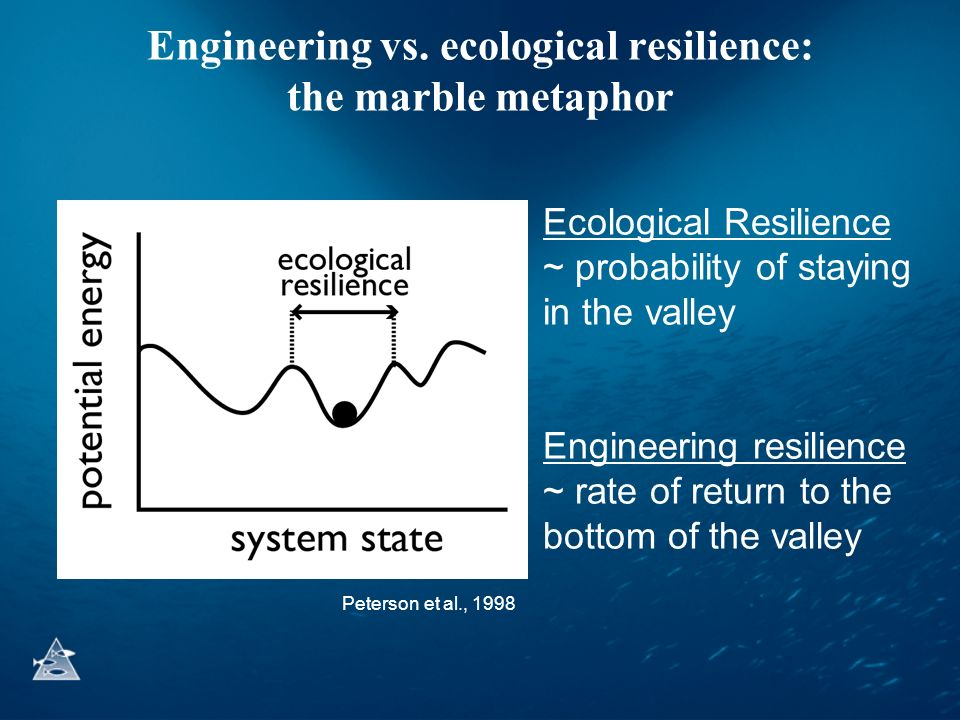 Engineering vs. ecological resilience: the marble metaphor