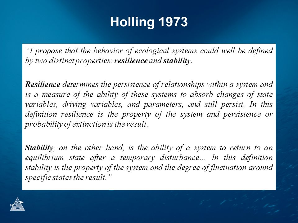 Holling 1973