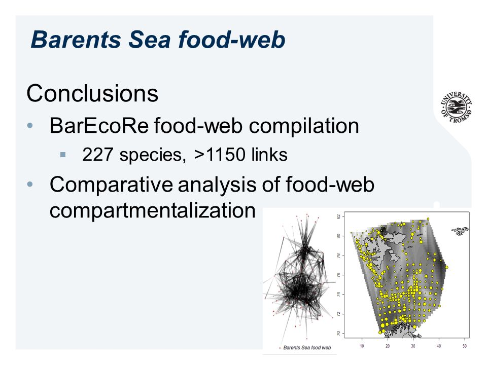 Barents Sea food-web Conclusions BarEcoRe food-web compilation