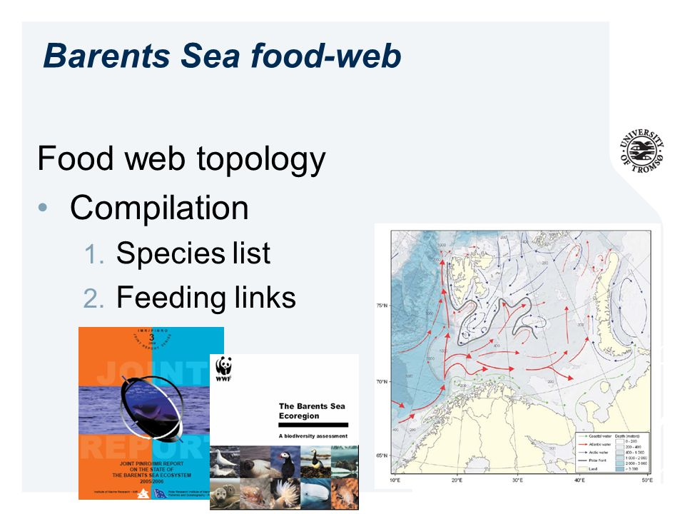 Barents Sea food-web Food web topology Compilation Species list