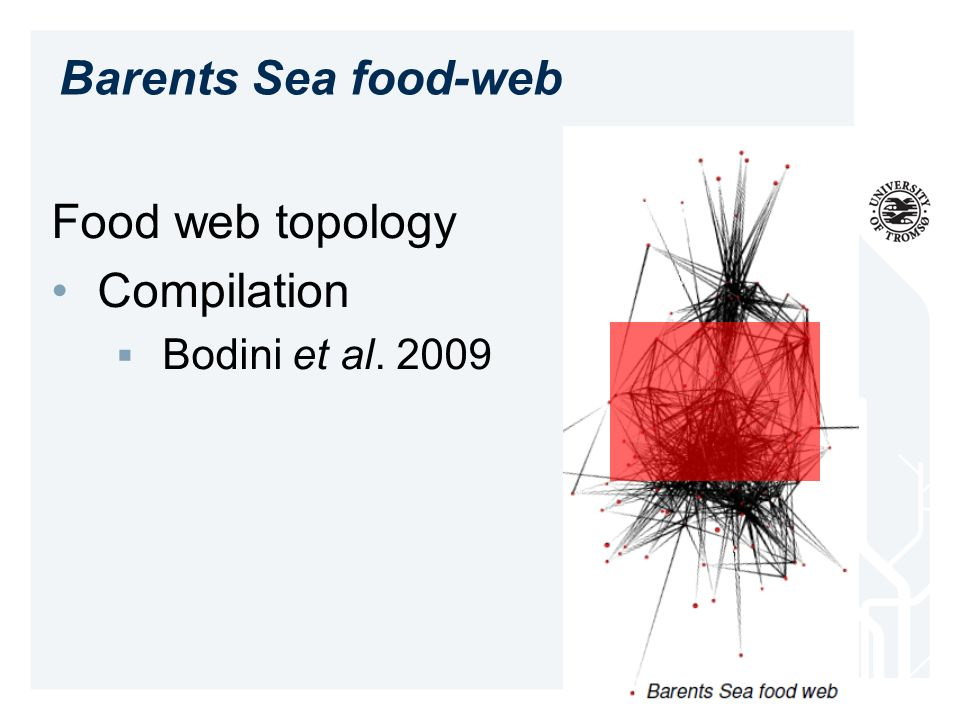Barents Sea food-web Food web topology Compilation Bodini et al. 2009