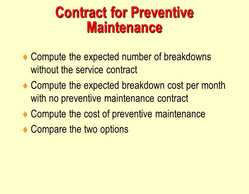 Operations Management Maintenance And Reliability
