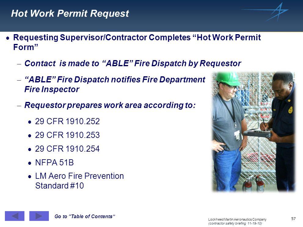 Hot Work Permit Request