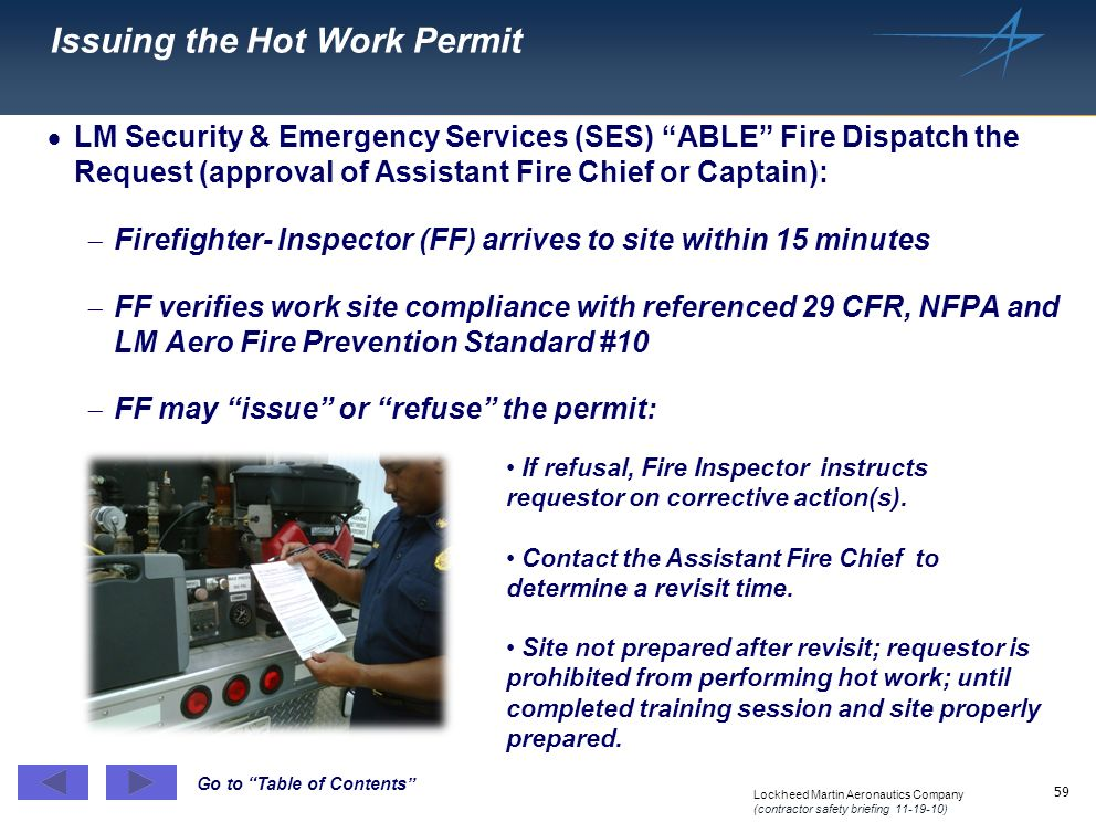Issuing the Hot Work Permit