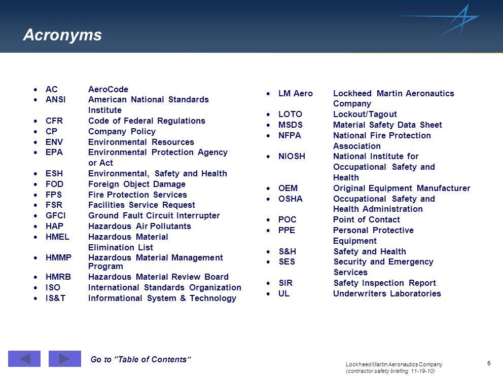 Acronyms AC AeroCode ANSI American National Standards Institute