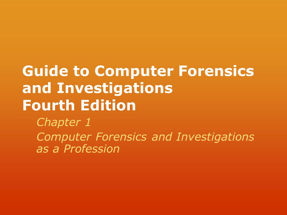Computer forensics and investigations 4th edition pdf