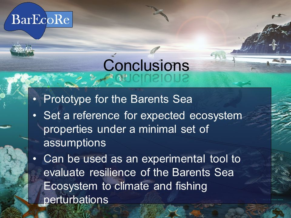 Conclusions Prototype for the Barents Sea