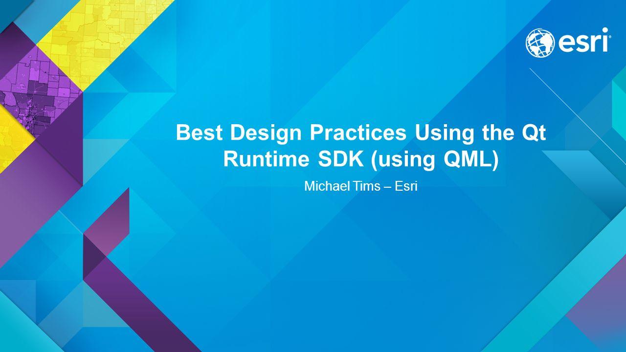 Best Design Practices Using the Qt Runtime SDK (using QML)