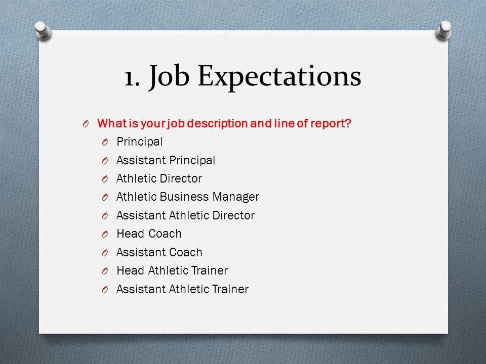 Superior Job Expectations What Is Your Job Description And Line Of Report