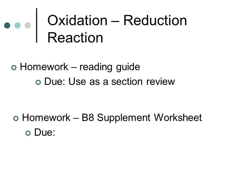 Objectives Describe the chemicals in the Earths atmosphere – Oxidation and Reduction Worksheet