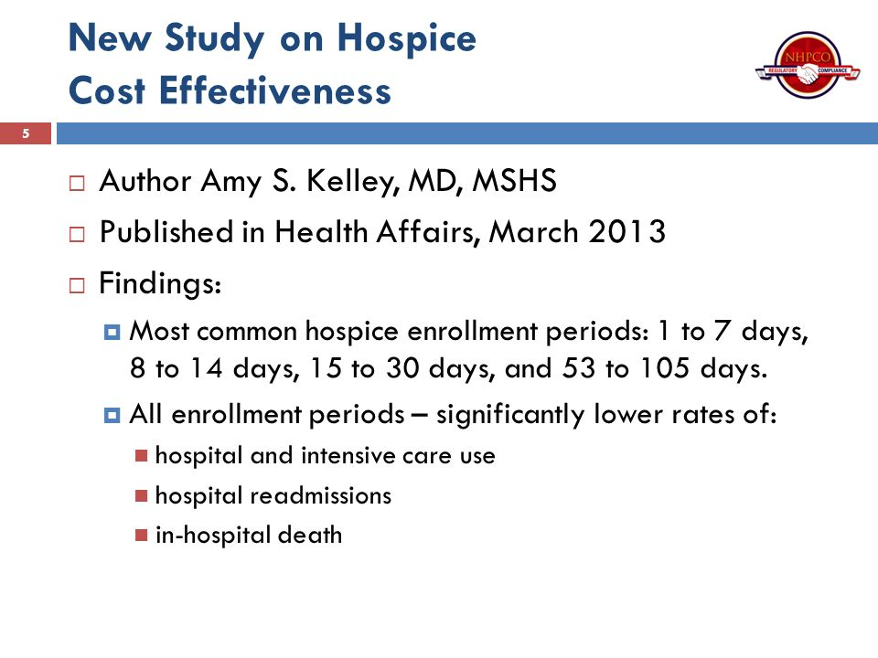 a study on hospices use Case study: hospital hospices los may 29, 2015 building your billable hours april 10, 2015 contact information hospice advisors 296 s main street plymouth, mi 48170.
