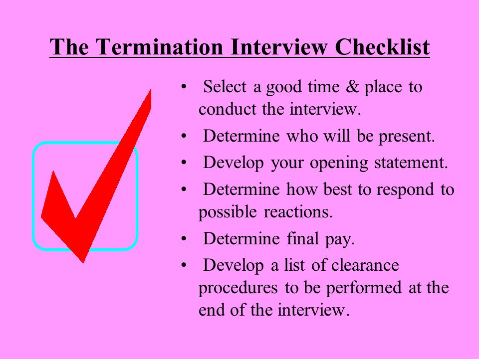 how to explain wrongful termination in an interview