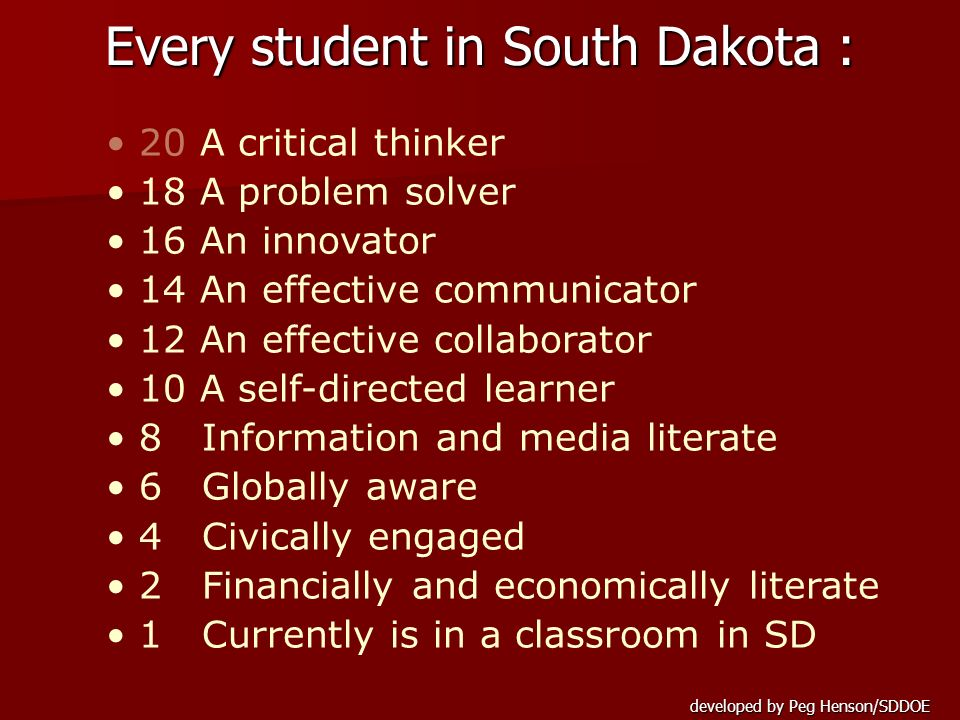 Every student in South Dakota :