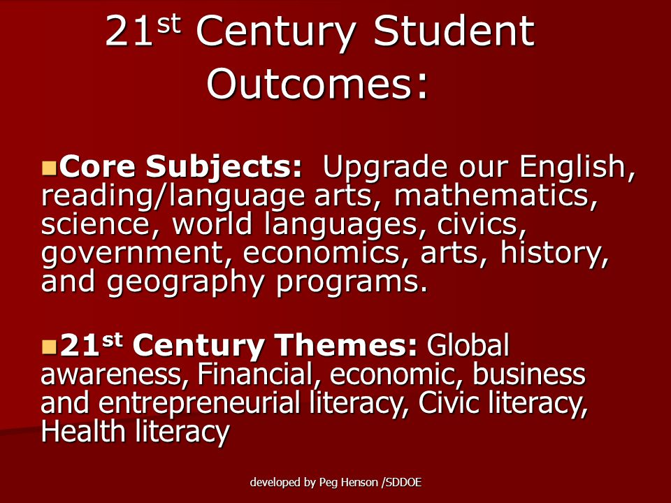 21st Century Student Outcomes:
