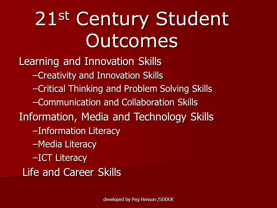 21st Century Student Outcomes