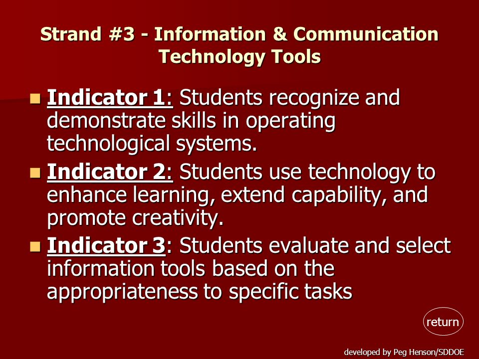Strand #3 - Information & Communication Technology Tools