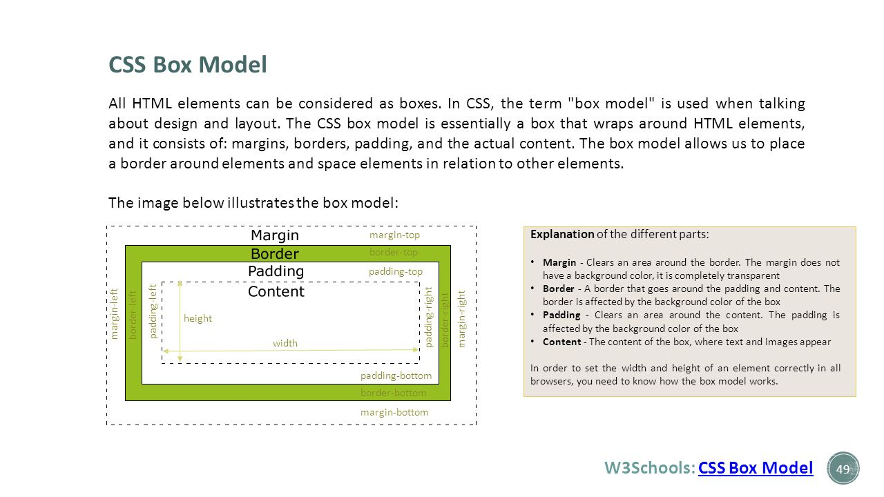 Web colors w3schools - Css Box Model W3schools Css Box Model