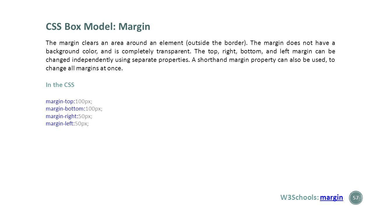 Web colors w3schools - Css Box Model Margin W3schools Margin