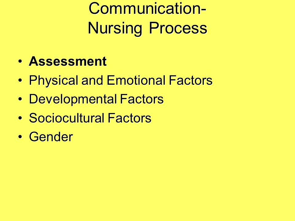 verbal communication in nursing pdf