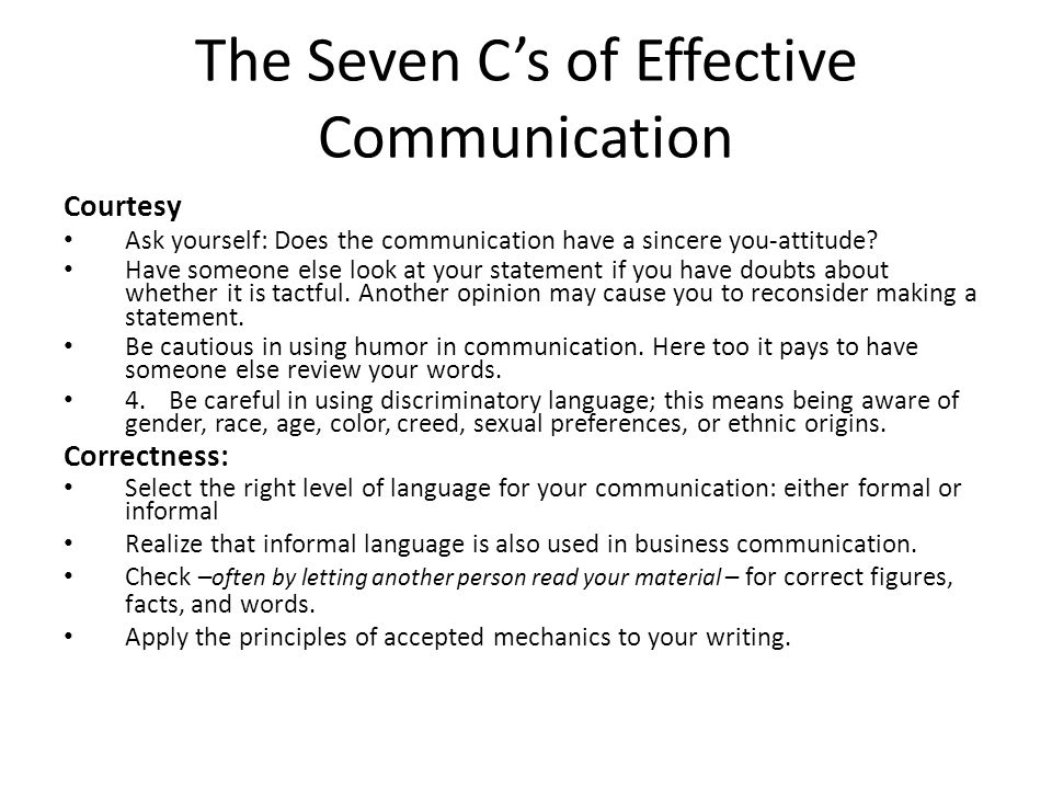 principles for effective business communication Level 3 diploma in business  principles of business communication and information  information storage is only effective if the information can be.