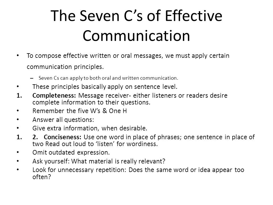 Business Communication Principles