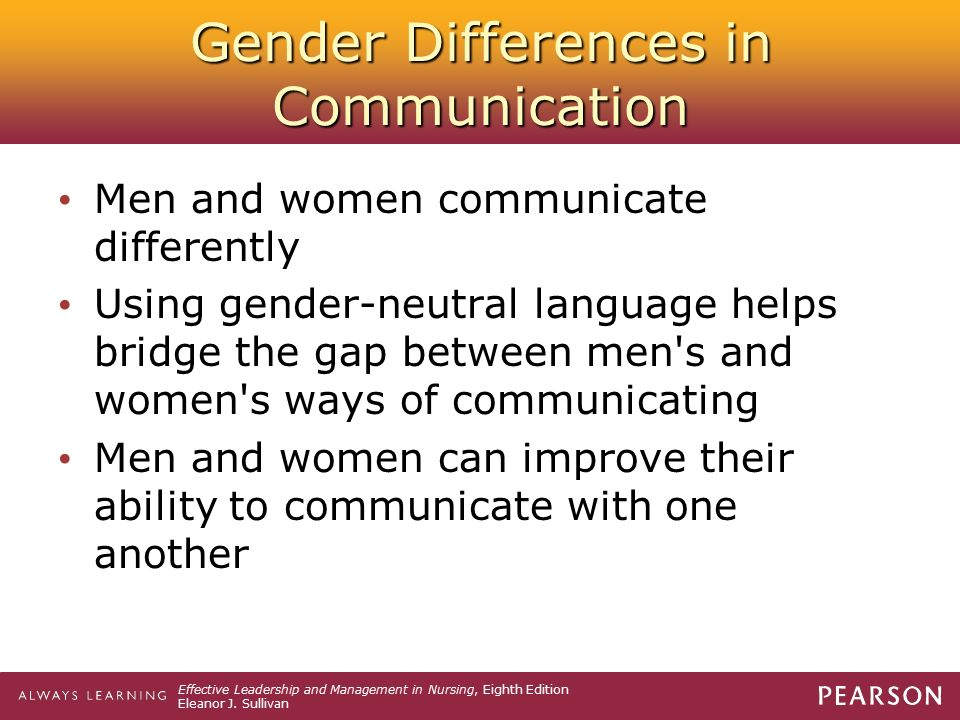 communication between men and women in the workplace It is important to promote the best possible communication between men and women in the workplace as we move between the male and female cultures, we sometimes have to change how we behave (speak the language of the other gender) to gain the best results from the situation.