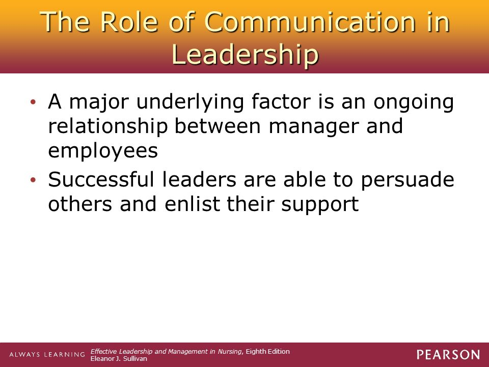 relationship between communication power and leadership