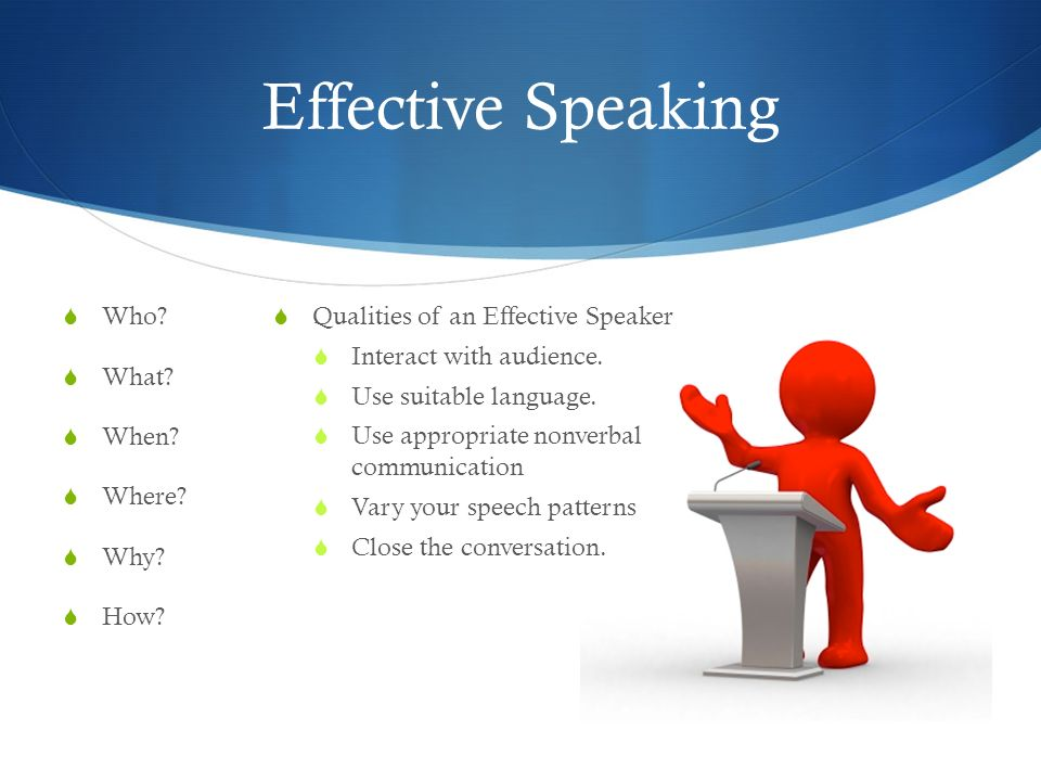 Effective Speaking Who What When Where Why How